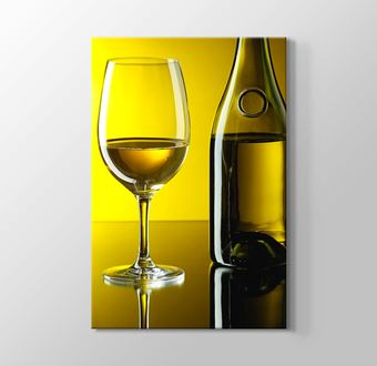 White Wine over Yellow Wall
