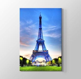 Paris - Eiffel Tower in Blue