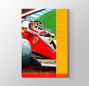 2007 Almanya Formula 1 Vintage Posteri