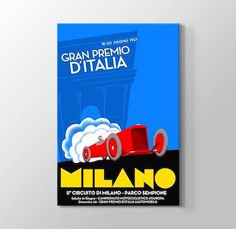 1937 Milano Formula 1 Vintage Posteri