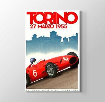 1955 Torino Formula 1 Vintage Posteri