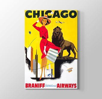 Chicago Vintage Havayolu Posteri
