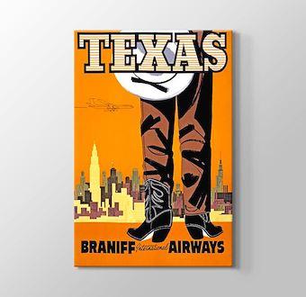 Texas Vintage Havayolu Posteri