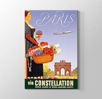 Paris Vintage Havayolu Posteri
