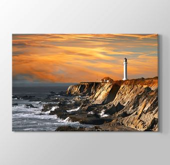 Lighthouse over Hills