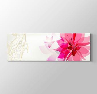 Pembe Retro Çiçekler