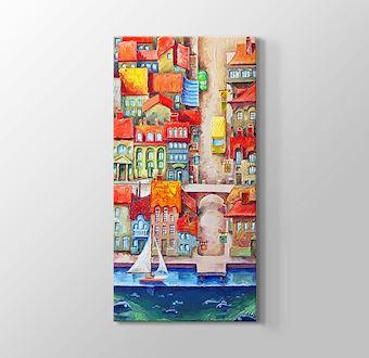 Deniz Kasaba Manzarası