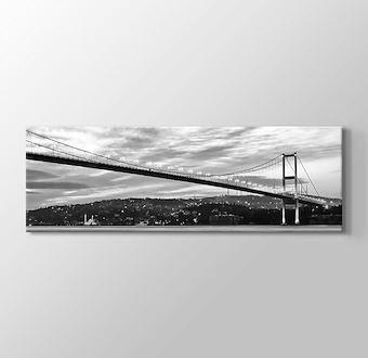 İstanbul - Boğaziçi Köprüsü Siyah Beyaz Panaromik