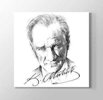 Karakalem Atatürk ve imzası