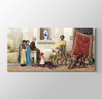 Persian carpet dealer on the street