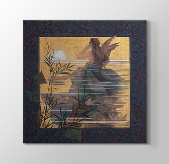 Composition with winged nymph at sunrise II