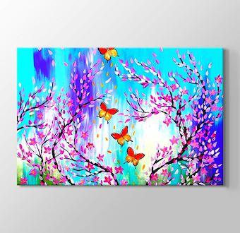 Renkli Dünya Kelebekler ve Çiçekler