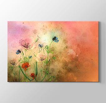 Çiçekler Soyut Çalışma