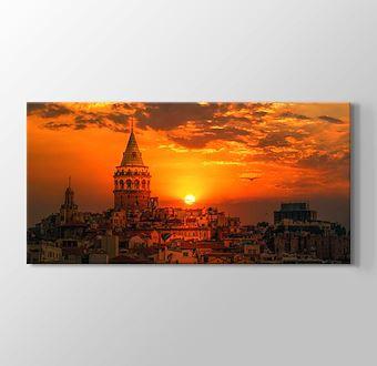 İstanbul Galata Kulesi Gün Batımı