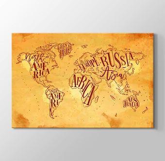 Vintage Dünya Haritası