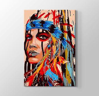 Kızılderili Kadın Portesi