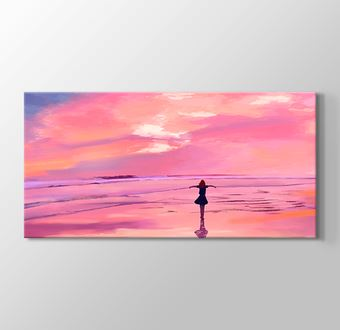 Sahil ve Gökyüzü - Günbatımı