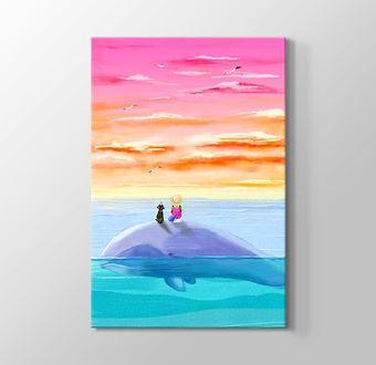 Balina Üzerinde Günbatımını İzlemek