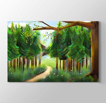 Patika ve Yeşil Ağaçlar