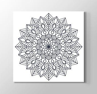 Hint Çiçeği Boyama Tablosu Mandala