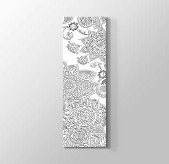 Dikey Motif Desenleri Boyama Tablosu Mandala