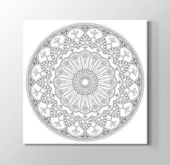 Özel İşleme Motifli Mandala Boyama Tablosu