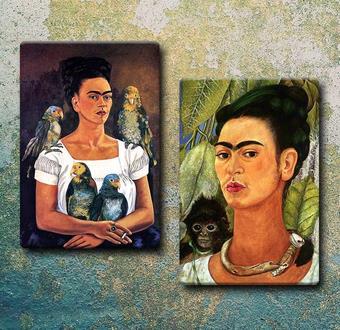 Frida Kahlo'nun 2 adet portresi