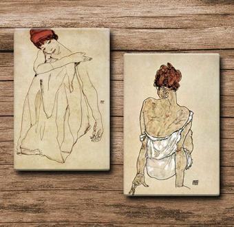 Egon Schiele 2 li Tablo Serisi - Kampanya