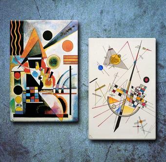 Kampanyalı Delicate Tension & Balancement Wassily Kandinsky Tabloları
