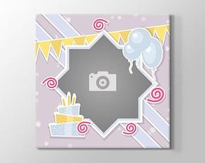 1 Fotoğraftan Doğum günü kanvas tablosu